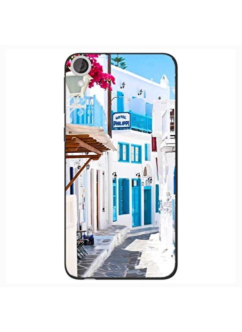People's Cover HTC Desire 820 Kabartmalı Telefon Kılıfı Renkli